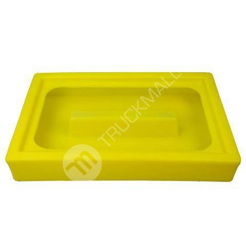 Úkapová vana pro dva 60 l sudy, žlutá a černá