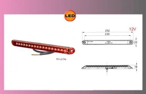 LED-PRO-CAN-XL světlo červené,12V/1,5W