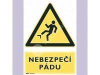 Tabulka - Nebezpečí pádu 21 x 29,7 cm