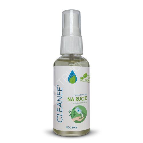 CLEANEE ECO hygienický sprej na ruce s vůní rozmarýnu 50 ml