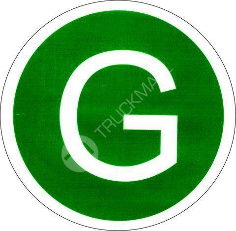 Samolepící štítek G