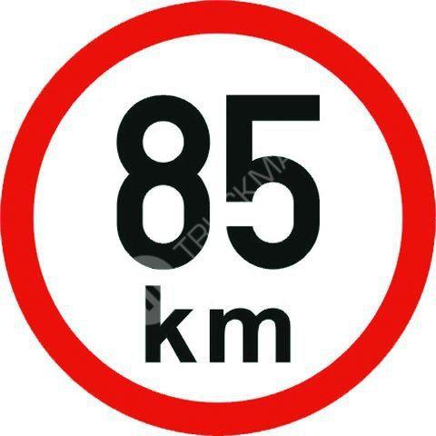 Samolepící štítek 85 km