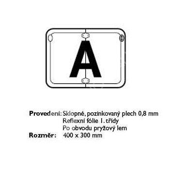 tabule vozidel-A-sklopná převáž.odpad
