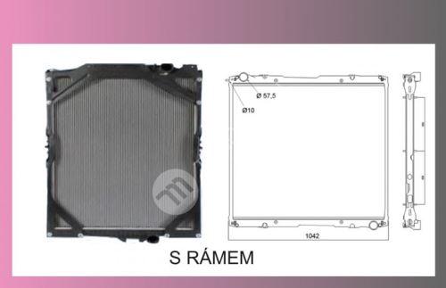 chladič vody SCANIA 124-R-s rámem