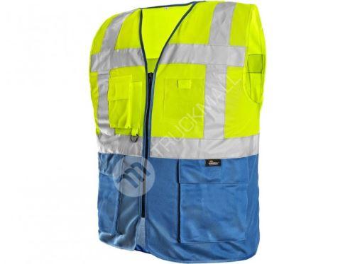 BOLTON výstražná vesta žluto-modrá