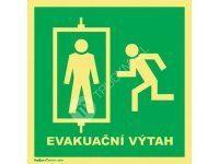 Tabulka Evakuační výtah_2 20 x 20 cm