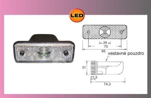 LED FLATPOINT -bílý 24V/1,3W