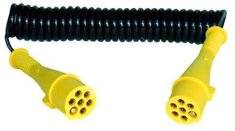 Elektrický kabel 7pramenný, 24 V spirálový - S (kolík)