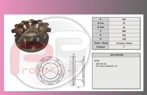 kotouč brzdový BPW-ECO-MAXX SB4345 PP
