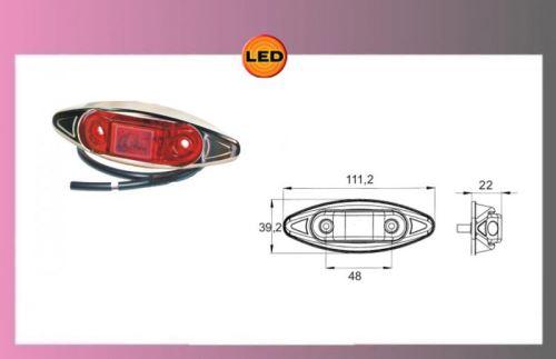 LED-PRO-CAN-světlo červ.24V-chrom