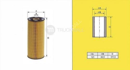 filtr olejový MB ACTROS