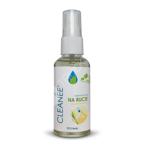 CLEANEE ECO hygienický sprej na ruce s vůní CITRONOVÉ TRÁVY 50 ml