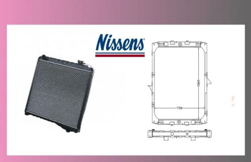chladič vody DAF 95XF-bez rámu-NISSENS