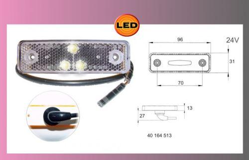 světlo obrys.LED-bílé-24V-kabel 0.5m