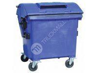 Plastový kontejner s otvorem na papír, modrý