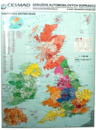 Nást.mapa-V.Británie s PSČ